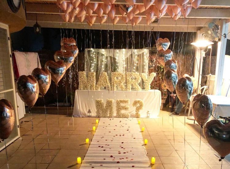 בלונים להצעת נישואין